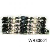 36inch Pearl High Power Black Magnetic Hematite beads Pearl Bracelet Necklace Jewelry All in One Set