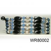 36inch Blue Gemstone, Pearl High Power Black Magnetic Hematite beads Pearl Bracelet Necklace Jewelry All in One Set
