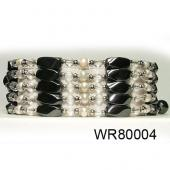 36inch Clear Crystal, Pearl High Power Black Magnetic Hematite beads Pearl Bracelet Necklace Jewelry All in One Set