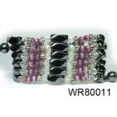36inch Amethyst Cat's Eye High Power Magnetic Wrap Bracelet Necklace All in One Set