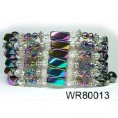 36inch Rainbow Hematite Magnetic Wrap Bracelet Necklace All in One Set