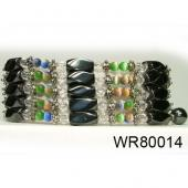 36inch Rainbow Cat's Eye ,Hematite Magnetic Wrap Bracelet Necklace All in One Set