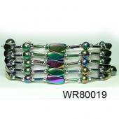 36inch Rainbow Hematite Beads Magnetic Wrap Bracelet Necklace All in One Set