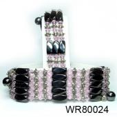 36inch Rose Quartz Crystal, Alloy,Magnetic Wrap Bracelet Necklace All in One Set