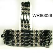 36inch Obsidian Crystal, Alloy, Magnetic Wrap Bracelet Necklace All in One Set