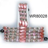 36inch Pink Pearl,Magnetic Wrap Bracelet Necklace All in One Set