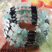 36inch Green Aventurine Magnetic Wrap Bracelet Necklace All in One Set