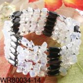 36inch Moonstone Chip Magnetic Wrap Bracelet Necklace All in One Set