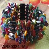 36inch Mutli-color Shell Chip Magnetic Wrap Bracelet Necklace All in One Set