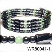 36inch Green Aventurine,Hematite ,Magnetic Wrap Bracelet Necklace All in One Set