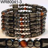 36inch Tiger Eye Opal, Hematite, Magnetic Wrap Bracelet Necklace All in One Set
