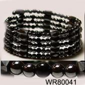 36inch Obsidian,Hematite ,Magnetic Wrap Bracelet Necklace All in One Set
