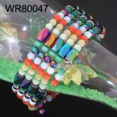36inch Multi-Color Cat's Eye Opal, Hematite, Magnetic Wrap Bracelet Necklace All in One Set
