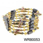 36inch Gold Cross Cloisonne Magnetic Wrap Bracelet Necklace All in One Set