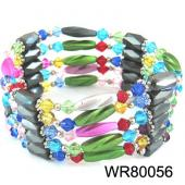 36inch Multi-Color Glass Beads, Plastic Beads,Magnetic Wrap Bracelet Necklace All in One Set