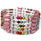 36inch Lampwork Glass Beads,Magnetic Wrap Bracelet Necklace All in One Set